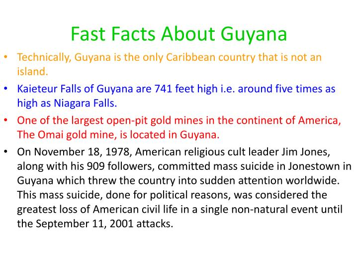 Fast Facts About Guyana