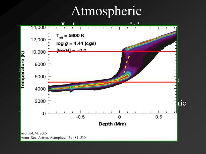 Atmospheric Inhomogeneities