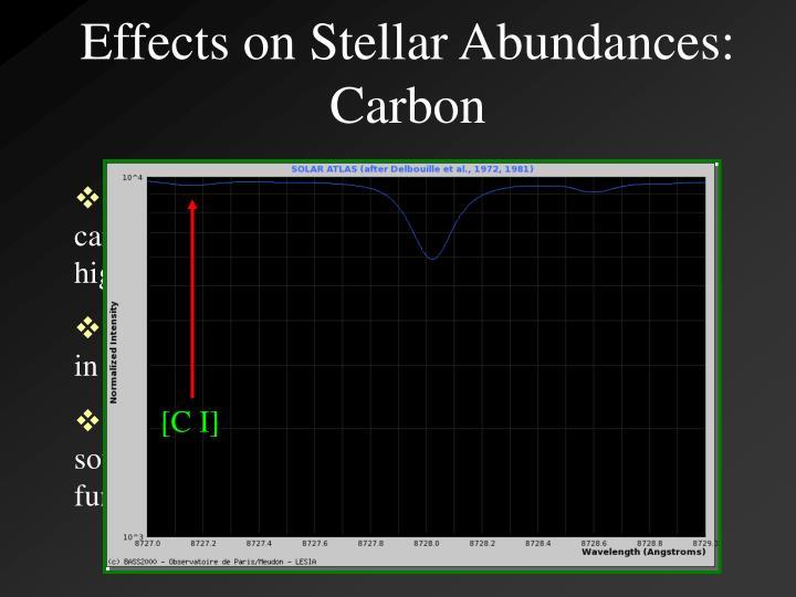 Effects on Stellar Abundances: Carbon