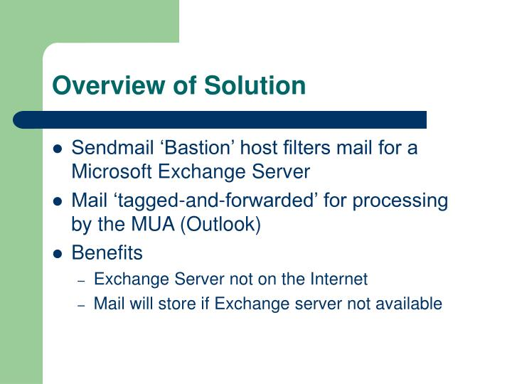 Overview of Solution