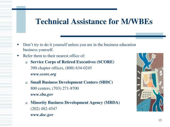 Technical Assistance for M/WBEs