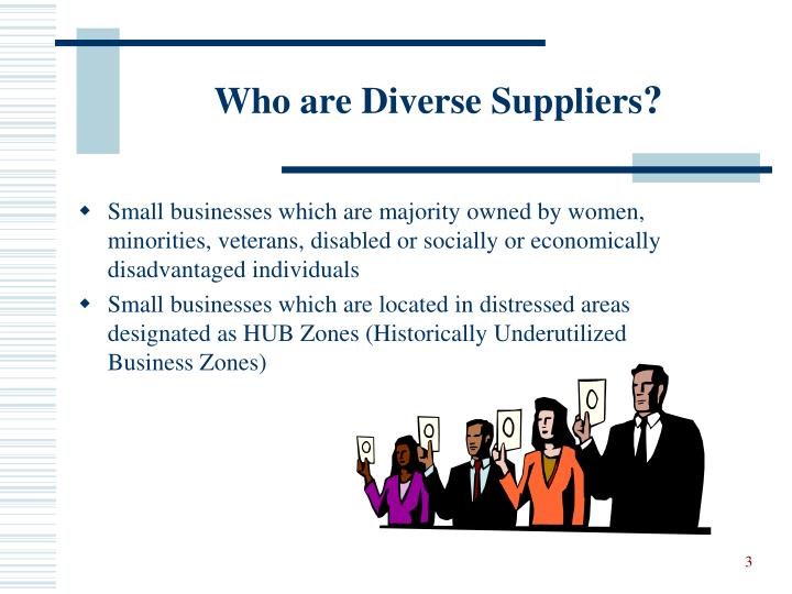 Who are diverse suppliers