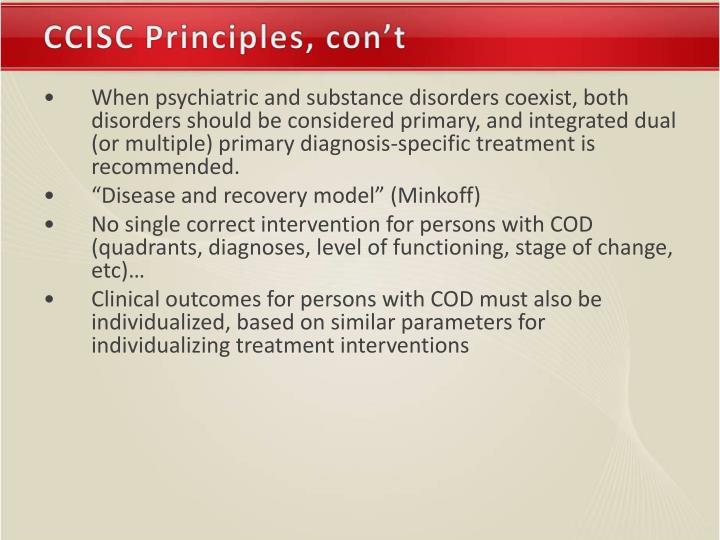 CCISC Principles, con't