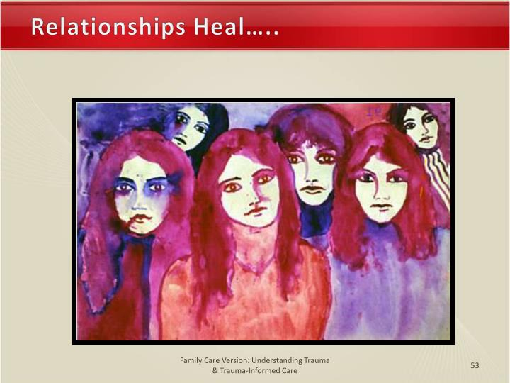 Relationships Heal…..