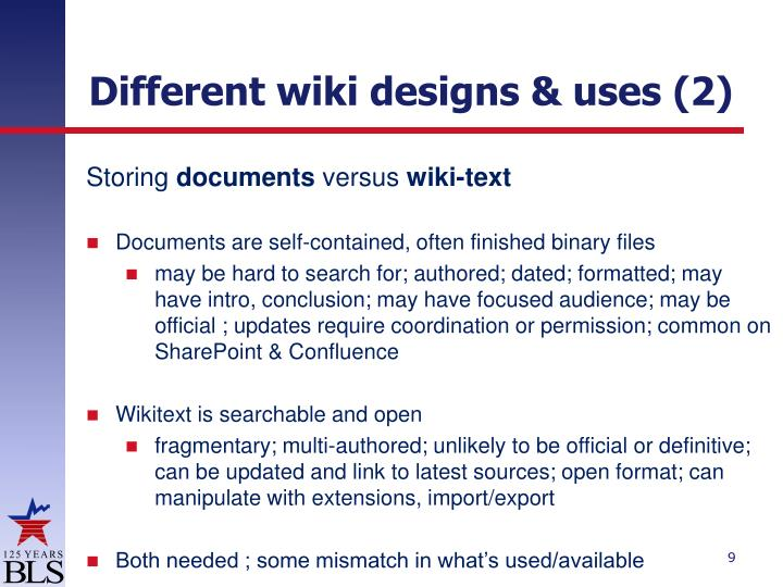 Different wiki designs & uses (2)