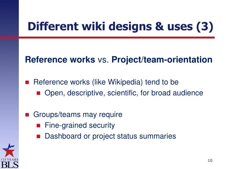 Different wiki designs & uses (3)