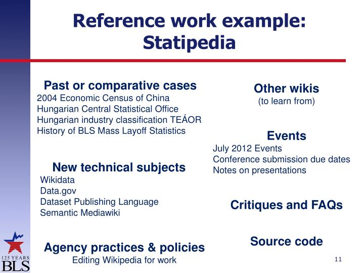 Reference work example: Statipedia