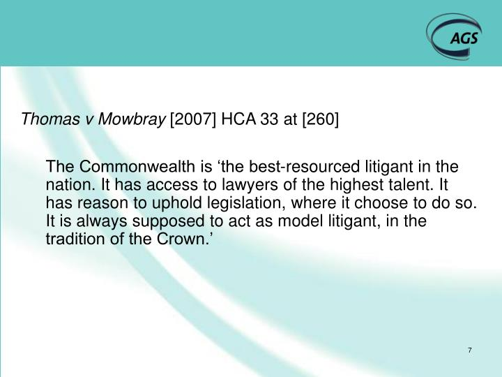 Thomas v Mowbray