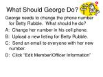 what should george do