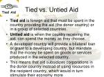 tied vs untied aid
