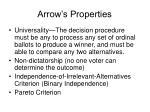 arrow s properties