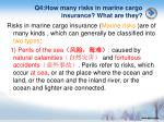 q4 how many risks in marine cargo insurance what are they