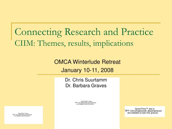 connecting research and practice ciim themes results implications n.
