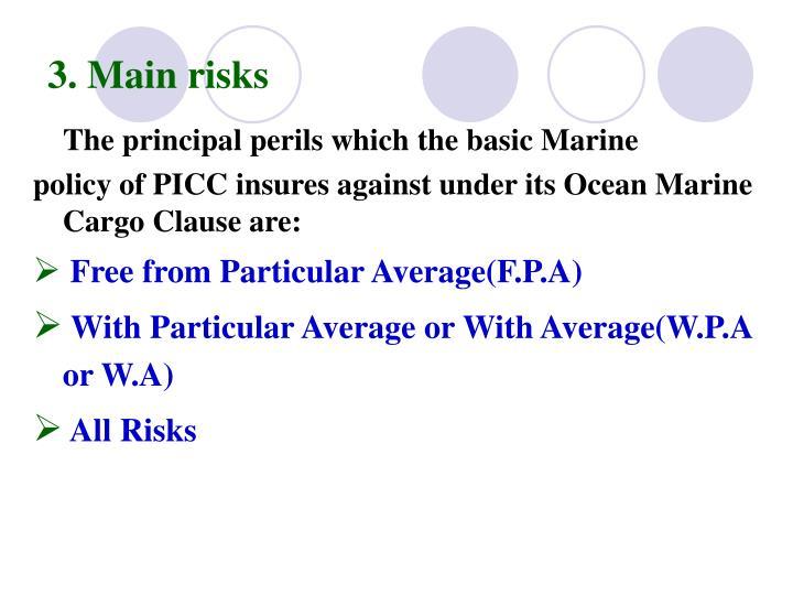 3. Main risks