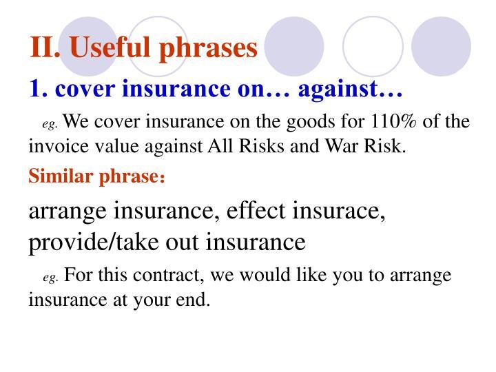 II. Useful phrases