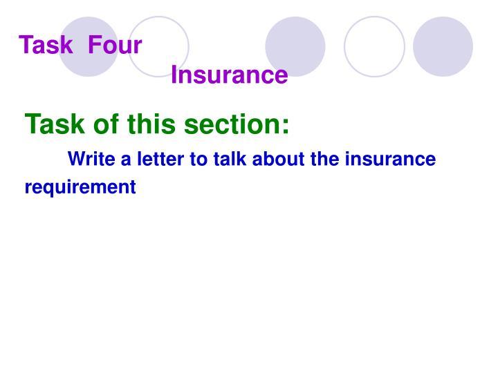 Task four insurance
