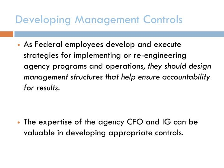 Developing Management Controls