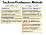employee development methods