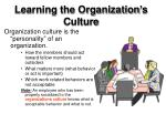 learning the organization s culture