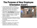 the purpose of new employee orientation cont1