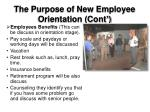 the purpose of new employee orientation cont2