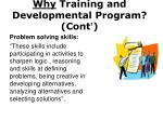 why training and developmental program cont1