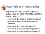 asset valuation approaches