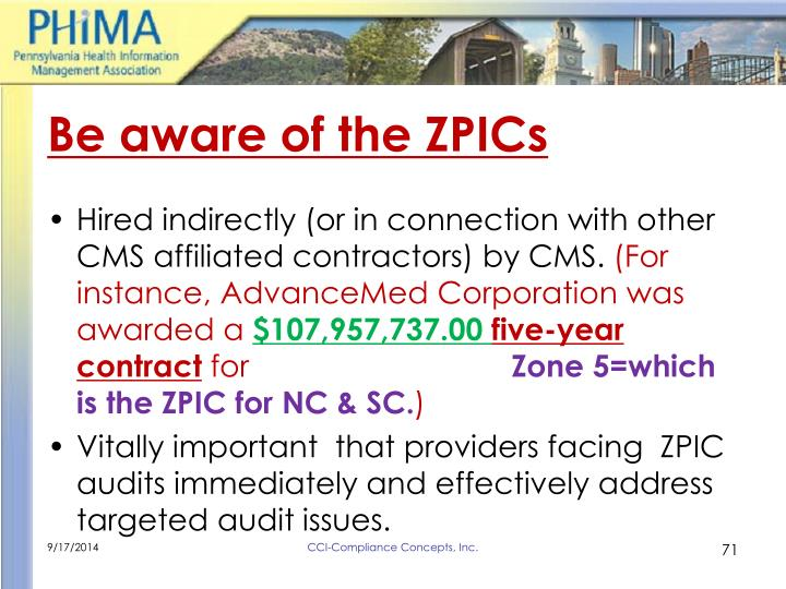 Be aware of the ZPICs