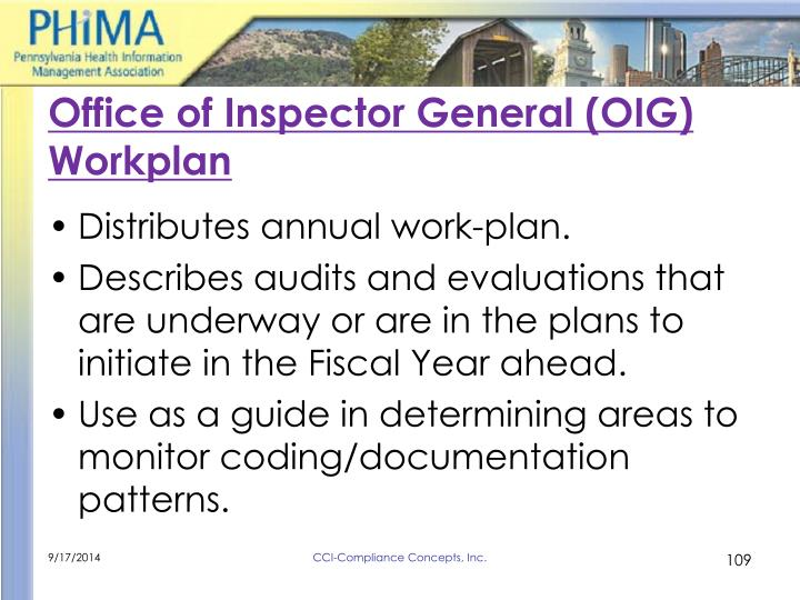 Office of Inspector General (OIG) Workplan