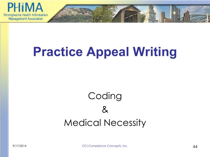 Practice Appeal Writing