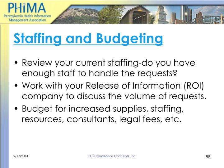 Staffing and Budgeting