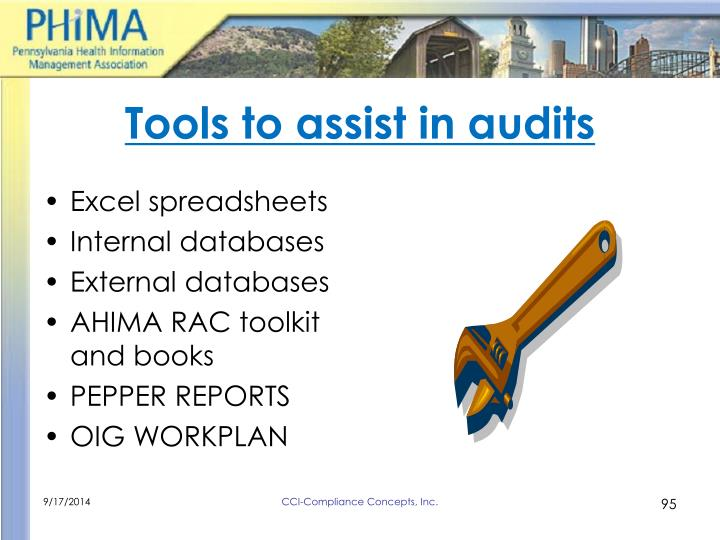 Tools to assist in audits