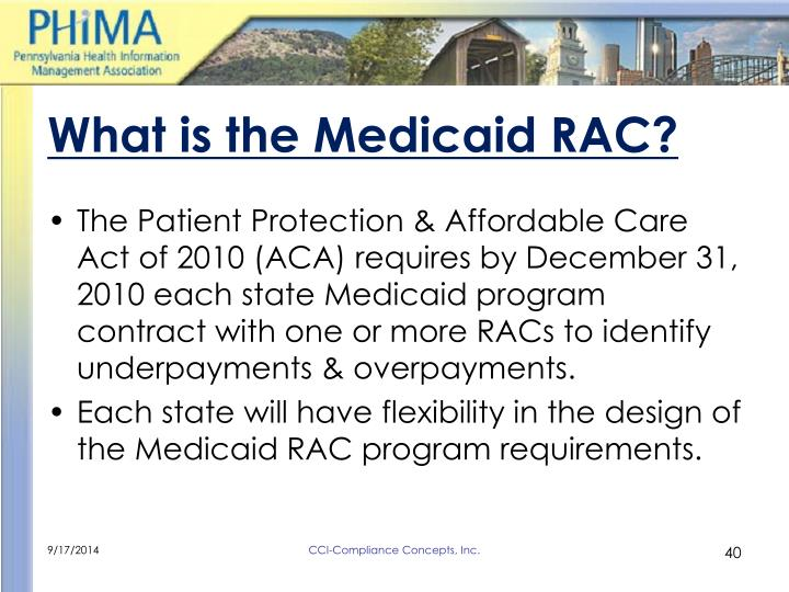 What is the Medicaid RAC?