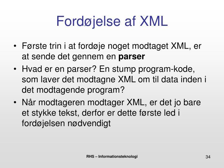Fordøjelse af XML