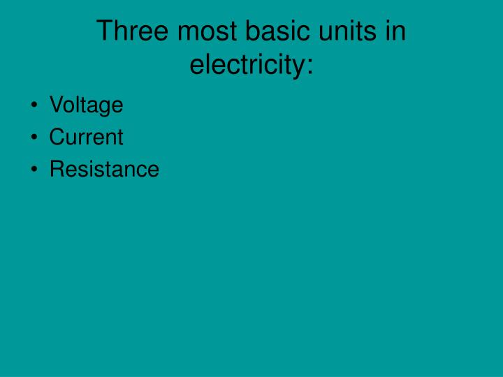 PPT - What are amps, watts, volts, and ohms? PowerPoint Presentation ...