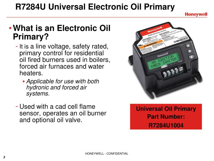 R7284U Universal Electronic Oil Primary