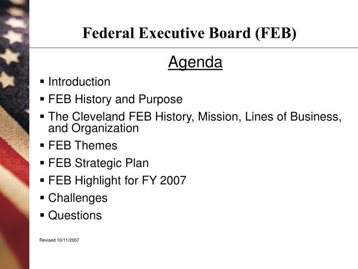Federal executive board feb