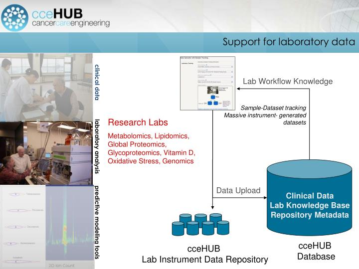Support for laboratory data