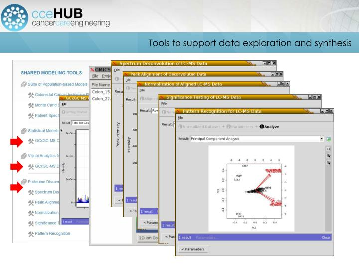 Tools to support data exploration and synthesis