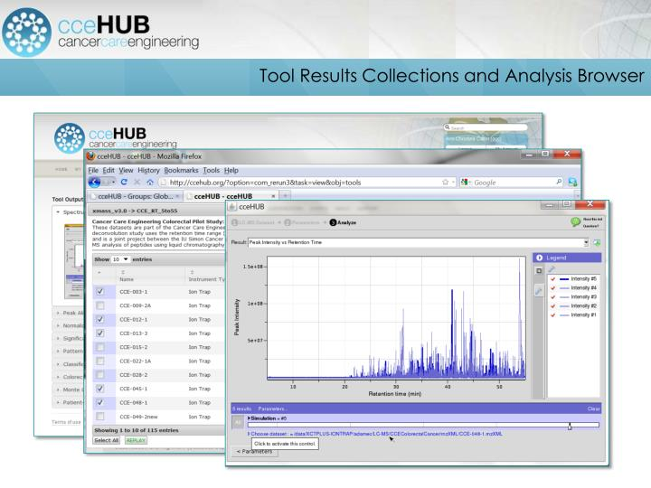 Tool Results Collections and Analysis Browser