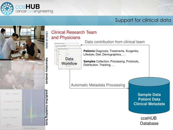 Support for clinical data