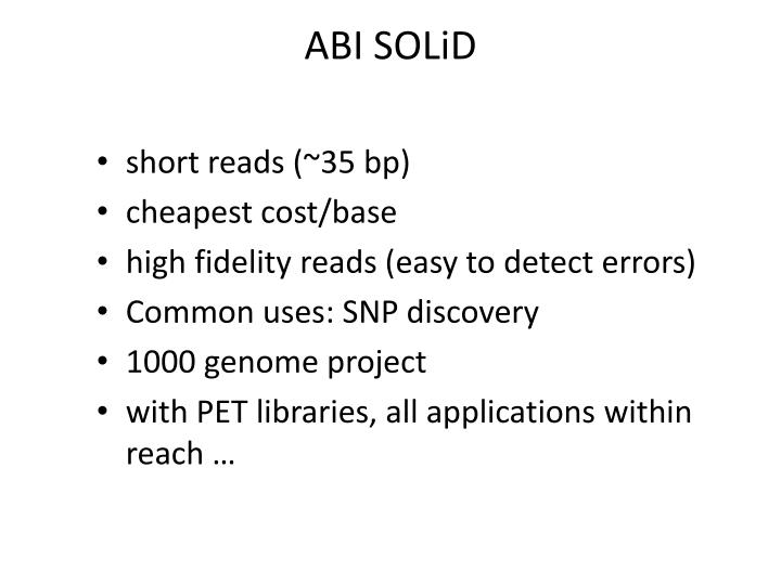 ABI SOLiD