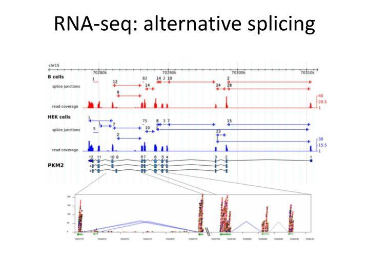 RNA-seq: alternative splicing