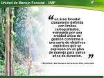 unidad de manejo forestal umf