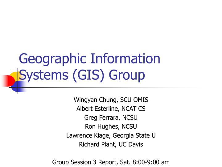 geographic information systems gis group n.