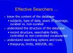 effective searchers