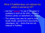what if pubmed does not indicate the article is owned at uf