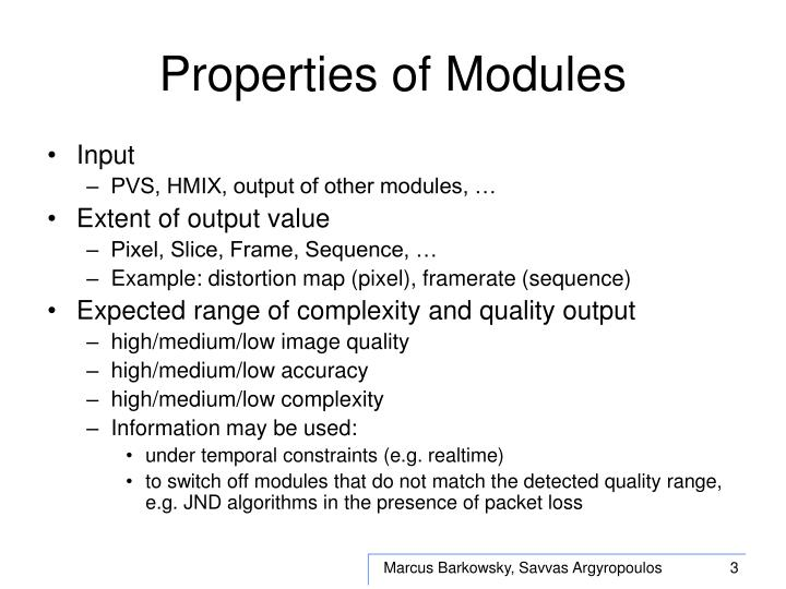 Properties of modules