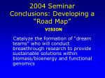 2004 seminar conclusions developing a road map