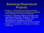 bioenergy bioproducts projects